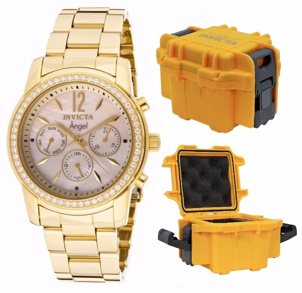 34c2aa359af relógio invicta angel - 11770 dourado feminino caixa stank. Carregando zoom.