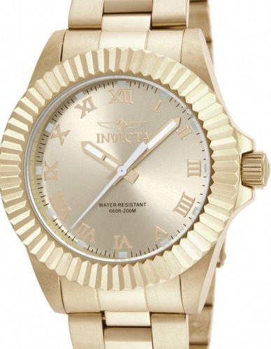 relógio invicta angel 16739 - dourado feminino