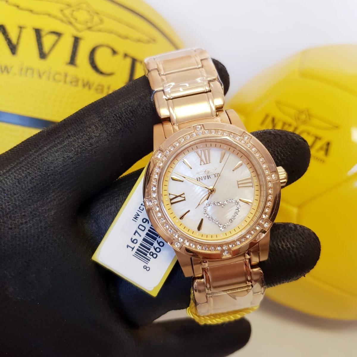 681e969db09 relógio invicta angel feminino 16709 original banho ouro 18k. Carregando  zoom.