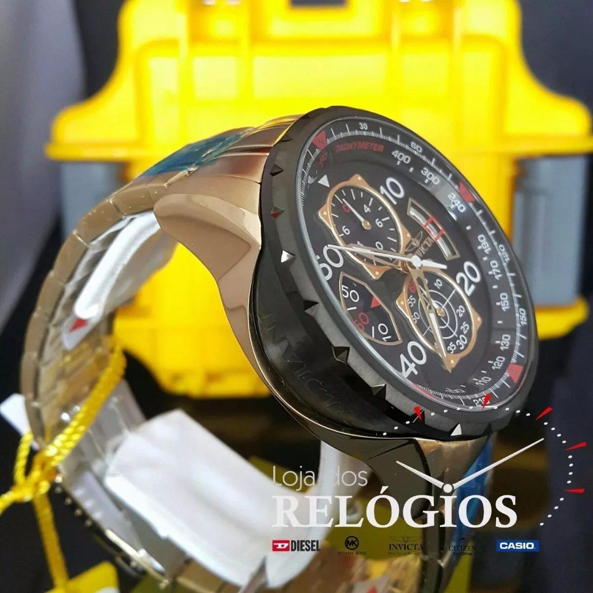 4c27f42c246 relógio invicta aviator 17206 original c  caixa stank. Carregando zoom.