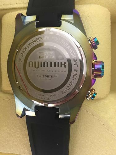 relógio invicta aviator camaleão 24579 original super promo