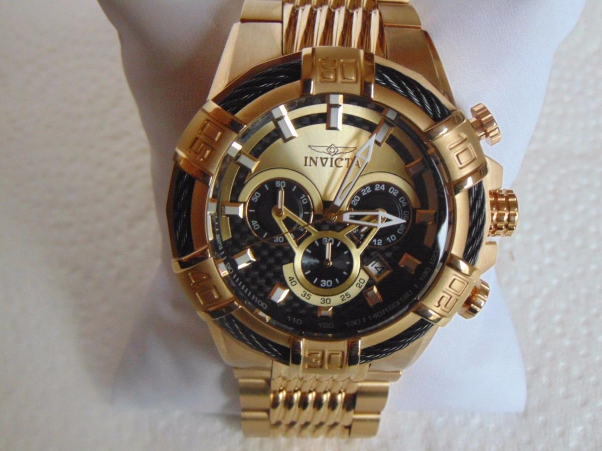 0c46c36fe27 Relógio Invicta Banhado A Ouro 18k Modelo 25543 Original!!! - R ...