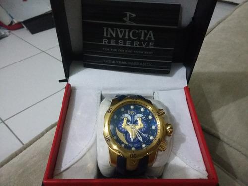 relógio invicta blue venom special reserve único no mundo