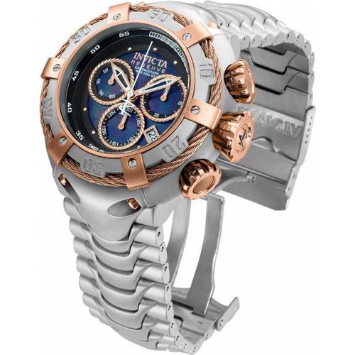 relógio invicta bolt 21342 - ouro rosê 18k, prata, 100 mts