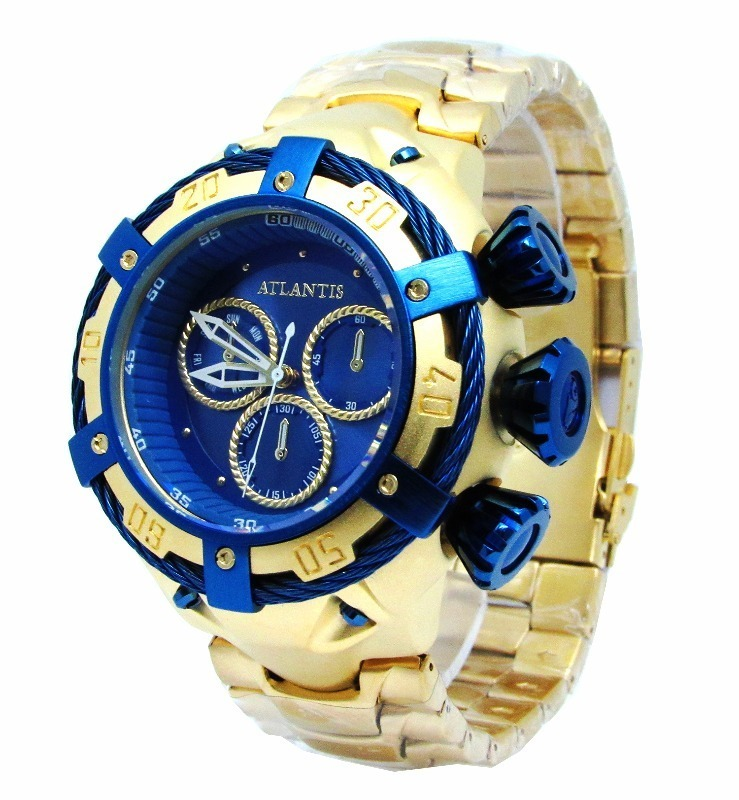 ded536625f1 Relógio Invicta Bolt 21361 Thunderbolt Zeus Azul Dourado! - R  489 ...