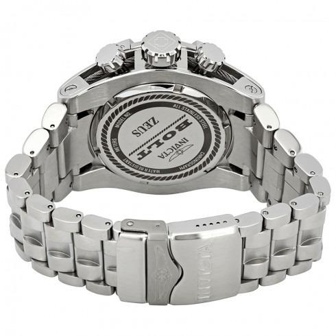 relógio invicta bolt chronograph silver dial men watch-23909