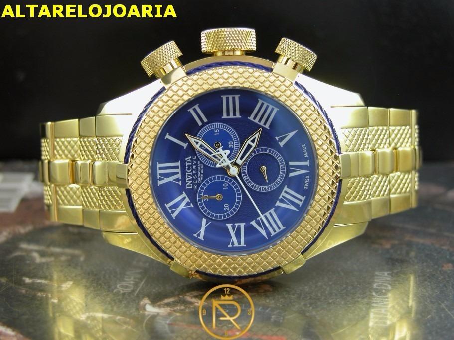 cd7fd4a8f42 relógio invicta bolt cronografo plaque ouro suiço 17164. Carregando zoom.