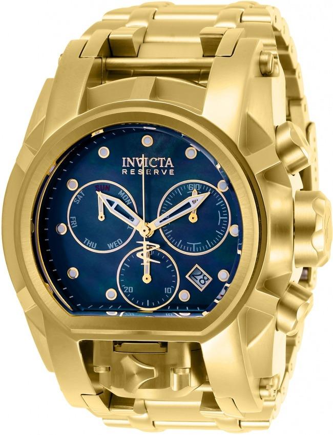 44273a425d4 relógio invicta bolt magnum 26706 original banhado ouro. Carregando zoom.