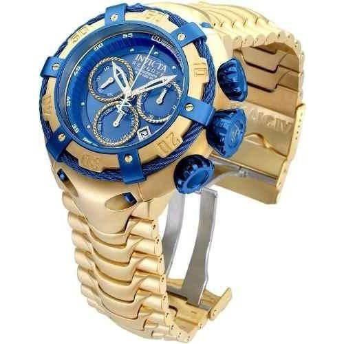 3f46f86f64c Relógio Invicta Bolt Modelo 21361 Dourado   Azul - R  699