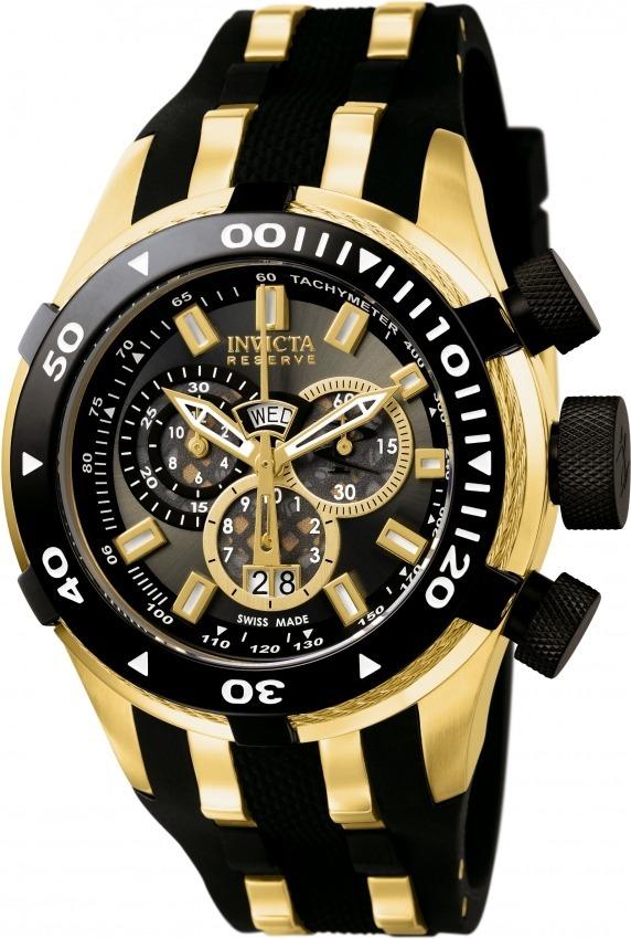 ebeedb274ed relógio invicta bolt swiss 0980 original banhado ouro 18k. Carregando zoom.