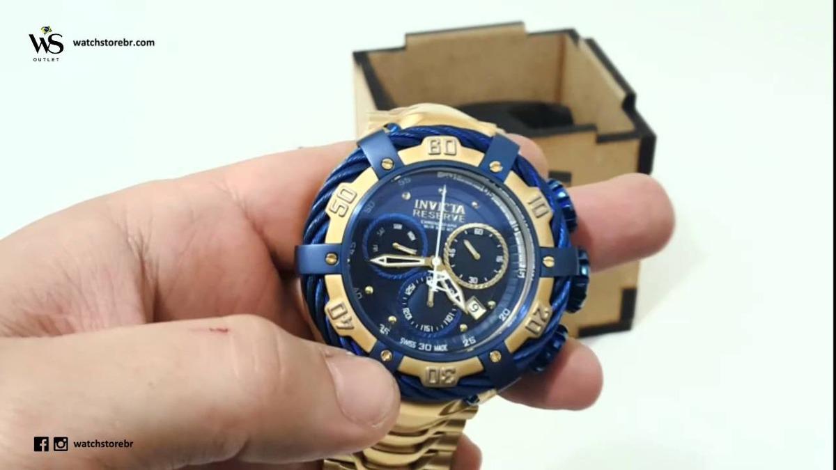 8e8f81960d1 relogio invicta bolt thunderbolt 21361 gold azul com caixa ! Carregando  zoom.