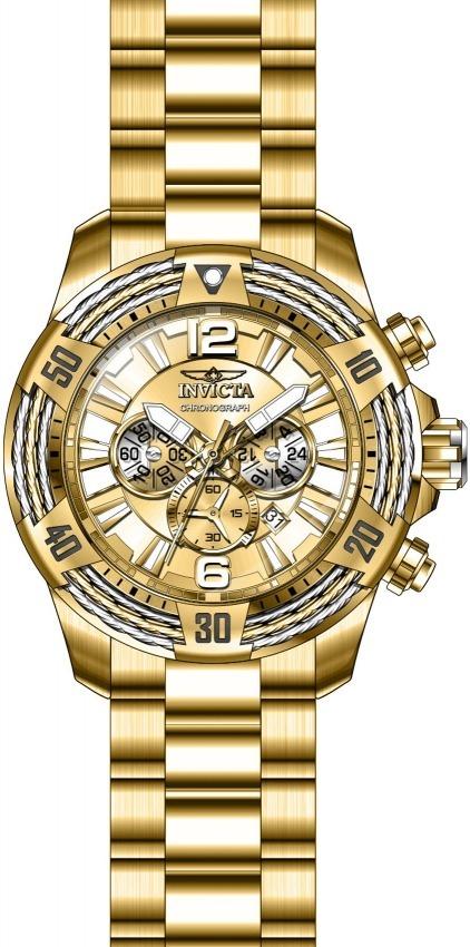 9fac4377f83 relógio invicta bolt vortex 27268 banhado ouro original. Carregando zoom.