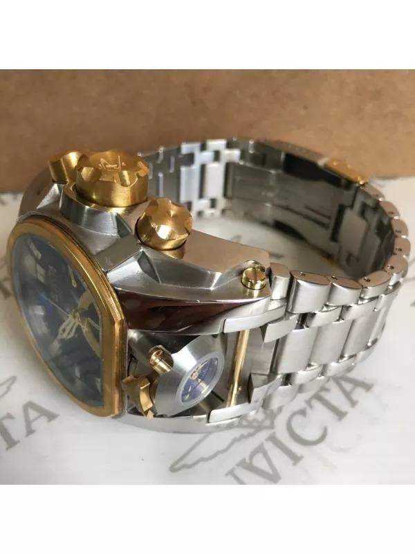 2389ebb3b50 relógio invicta bolt zeus magnum prata com azul completo!!! 4 Fotos