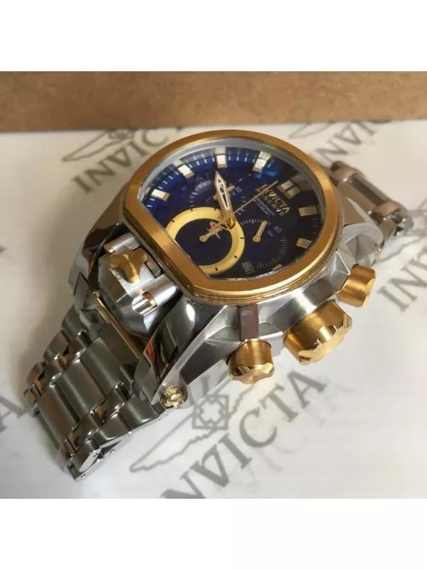 e78b203fce8 relógio invicta bolt zeus magnum prata com azul completo!!! ...