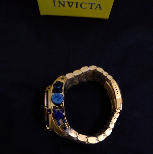 relógio invicta bolt zeus skeleton goldazul
