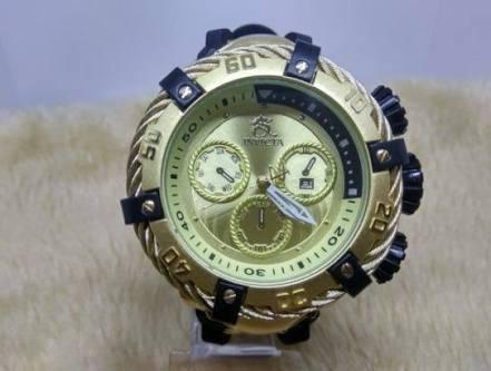 528542a07fc Relogio Invicta Dourado Thunderbolt Gigante Barato - R  210