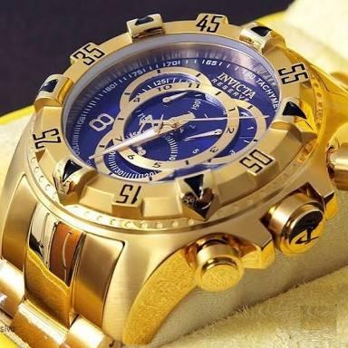 d17b933f405 Relogio Invicta Excursion Dourado Fundo Azul (usado 1 Mês) - R  499 ...