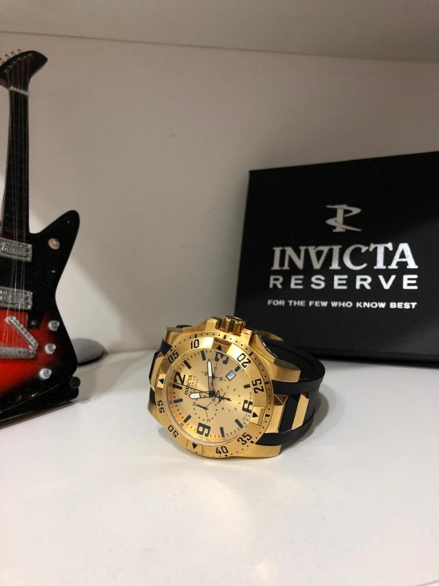 42b7602c566 relógio invicta excursion reserve 6255 banhado a ouro 18k. Carregando zoom.