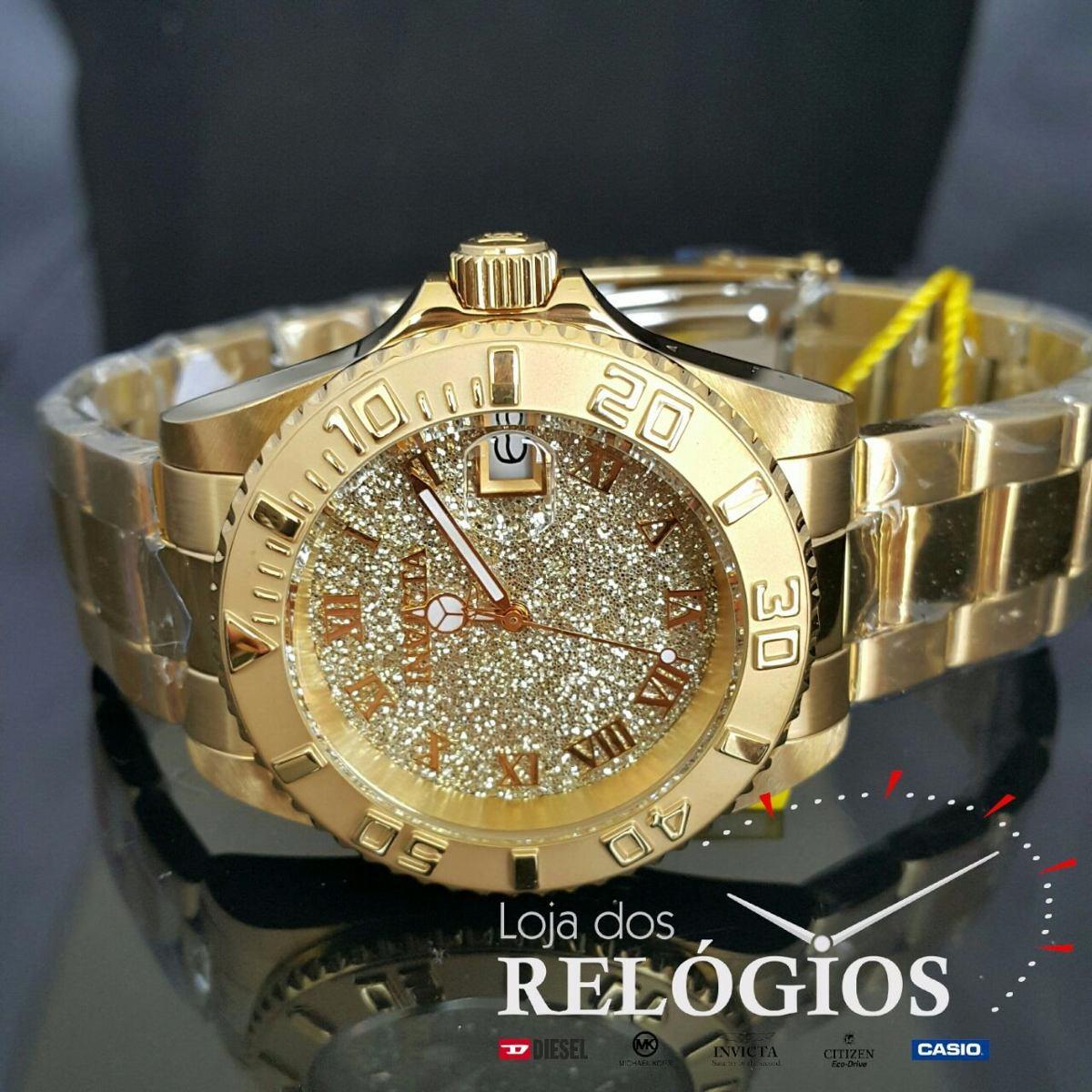 566634c7166 Relógio Invicta Feminino Angel 22707 Dourado Original Suíço - R  649 ...