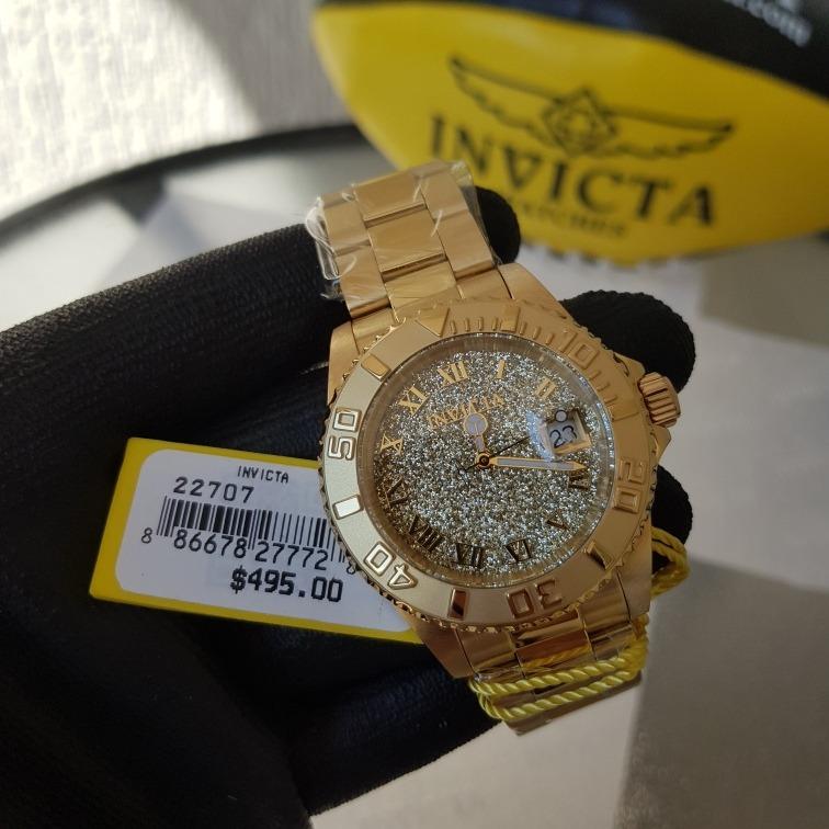 19951cca65f Relógio Invicta Feminino Angel 22707 Dourado Original Suíço - R  649 ...