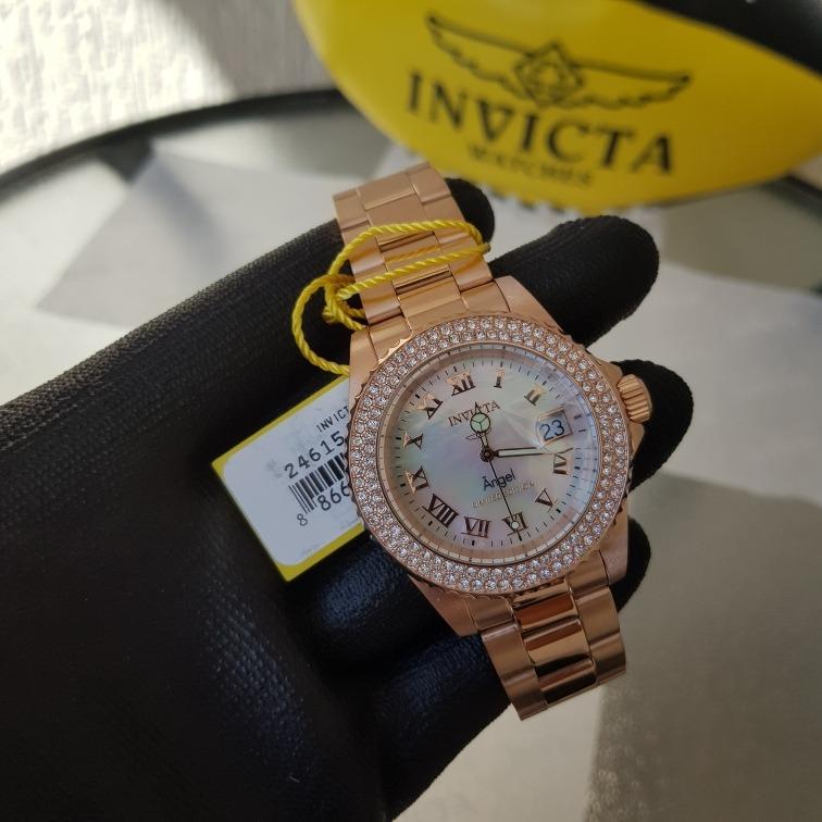 058a0659f35 Relógio Invicta Feminino Angel 24615 Rose Original - R  679