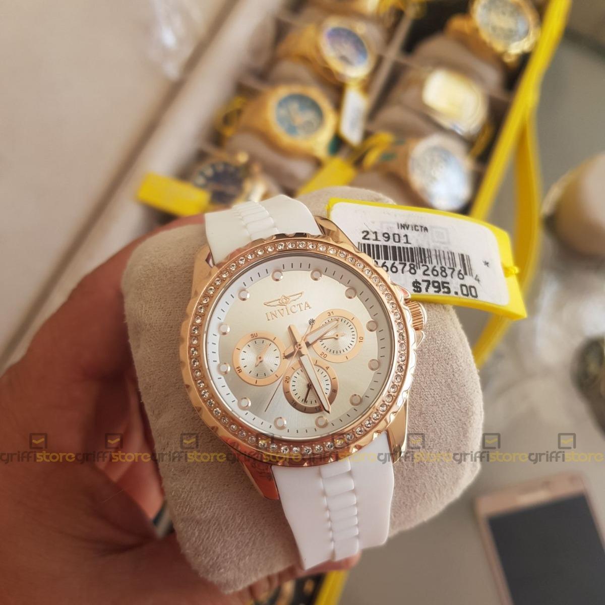 7567c7f3a57 relógio invicta feminino angel lady 21901 original b. ouro. Carregando zoom.