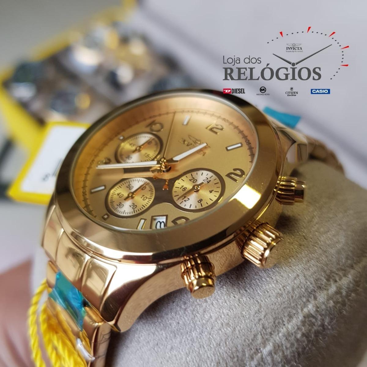 5f864f93e44 relógio invicta feminino angel19217 b.ouro 18k original. Carregando zoom.