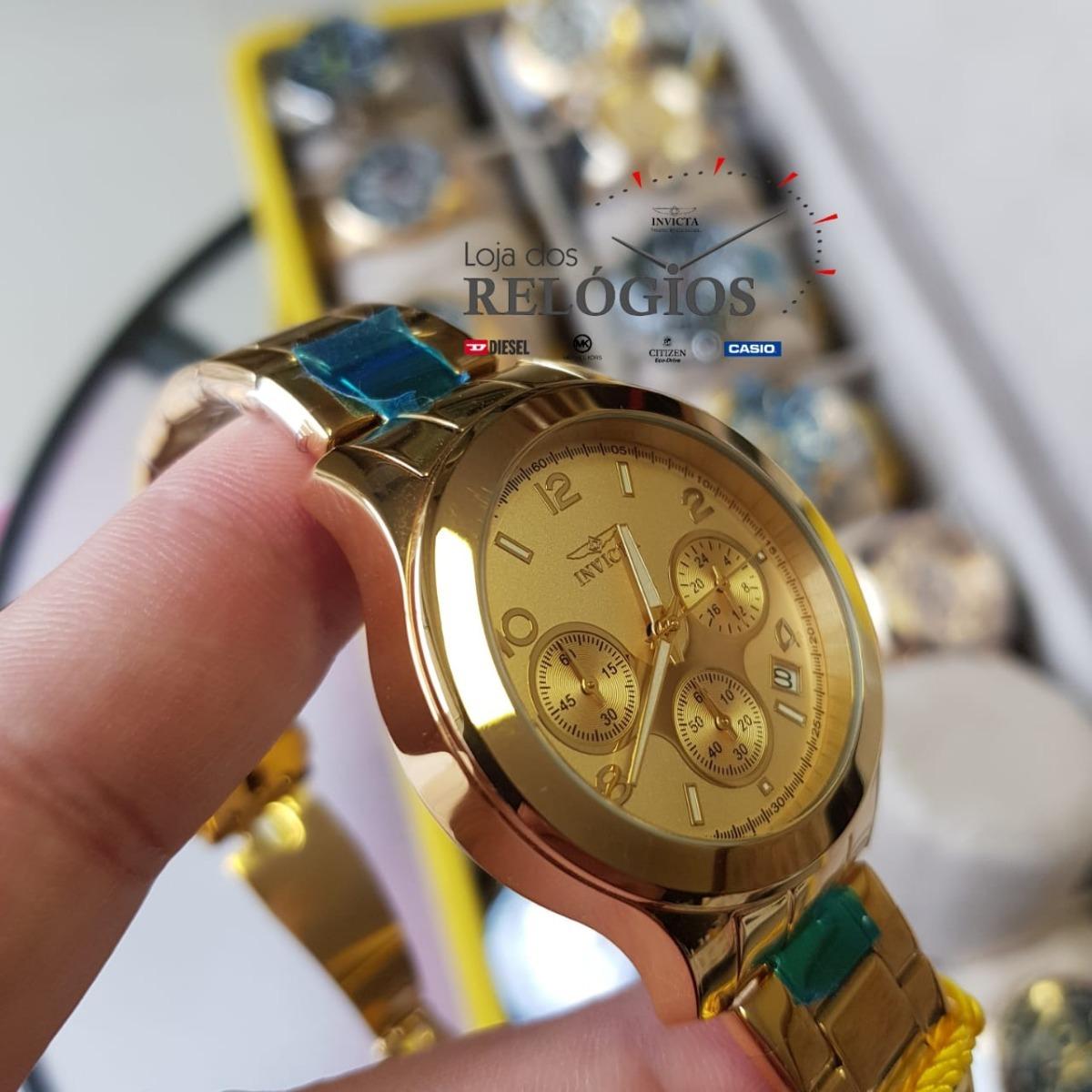 f16d31222af relógio invicta feminino angel19217 b.ouro 18k original. Carregando zoom.