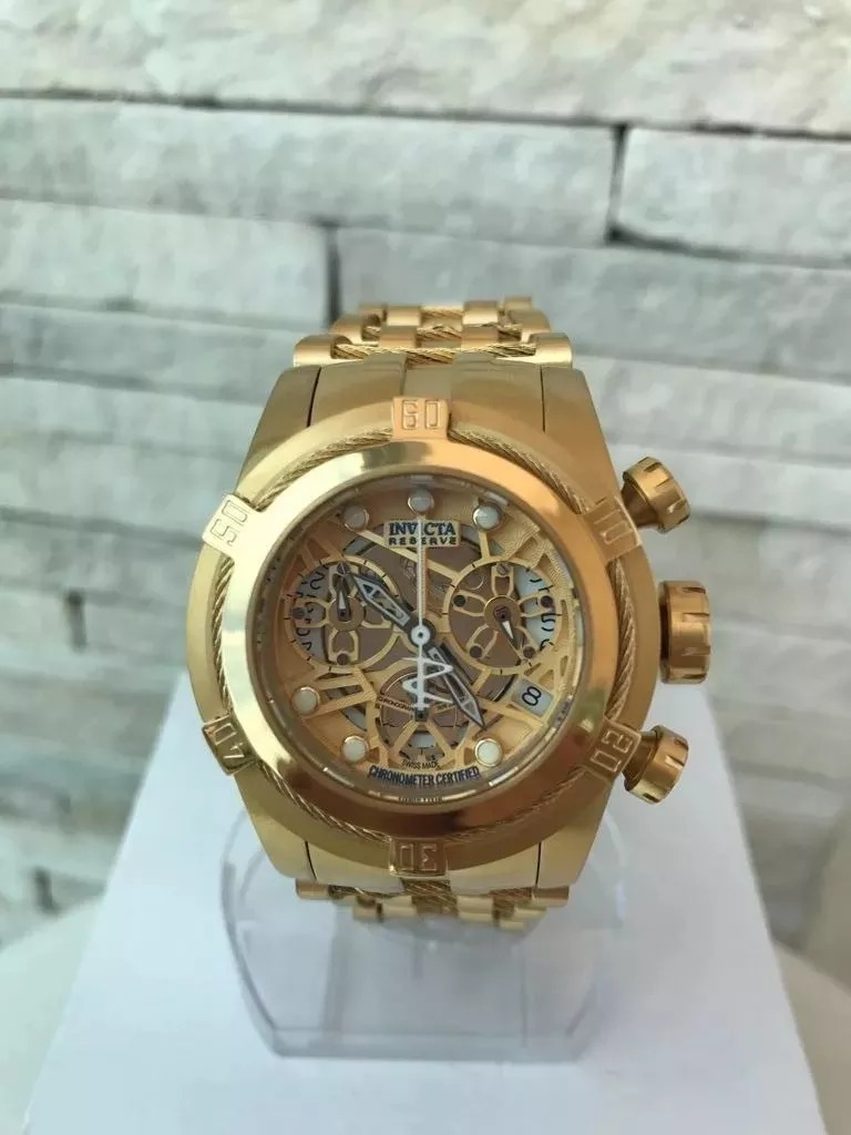 4b0fd9c4fdc relógio invicta feminino bolt zeus skeleton original dourado. Carregando  zoom.