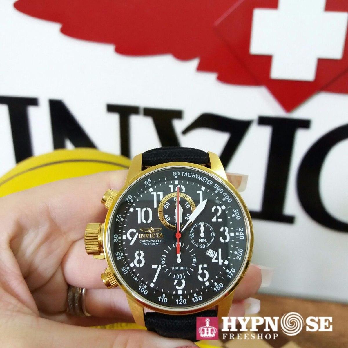 ea4af10c99d relógio invicta force collection 1515 original ouro   preto. Carregando zoom .