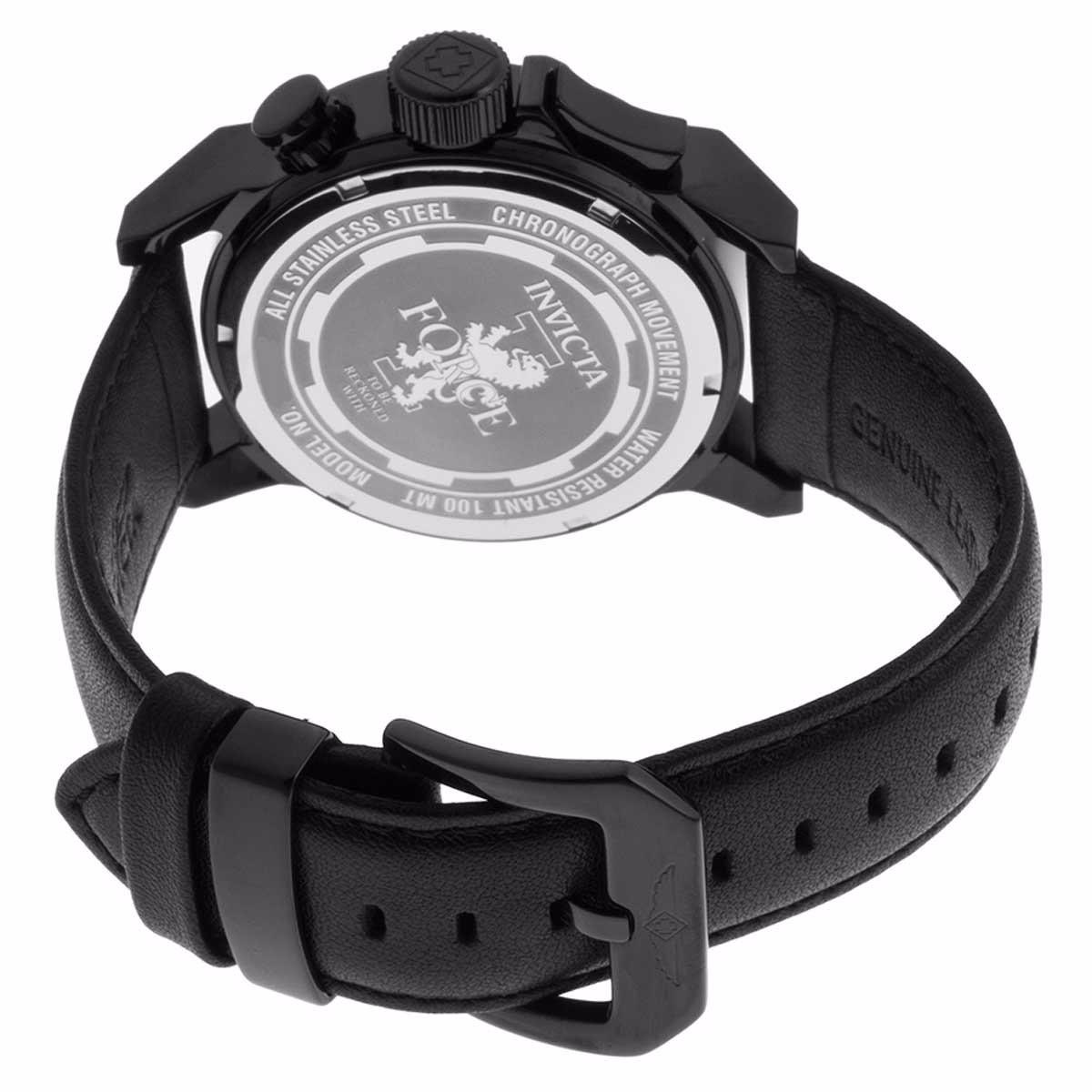 8ef971013ee relogio invicta i-force pulseira couro fundo preto 20542. Carregando zoom.