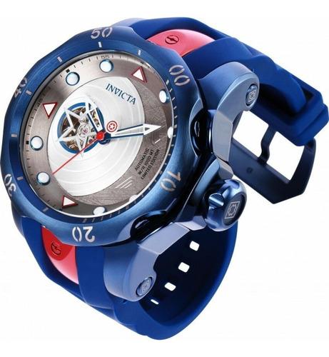 relógio invicta marvel capitão américa automático original
