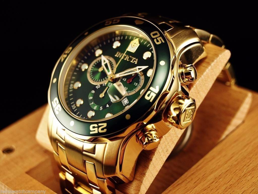 259e149fa7a Carregando zoom... invicta masculino relógio · relógio invicta pro diver  0075 dourado masculino completo
