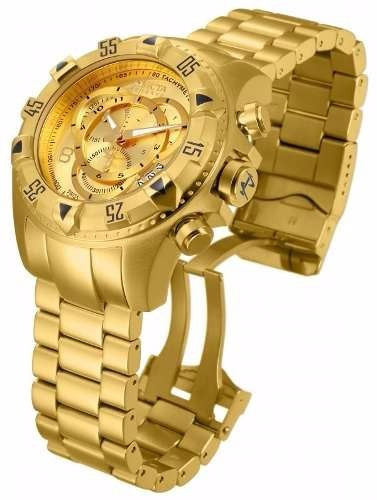 01b128042ba Relógio Invicta Reserve Dourado Masculino Modelo 5525 - R  520