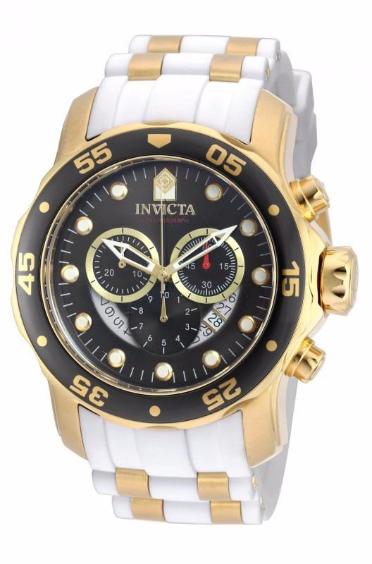 b94d9611b8a Relógio Invicta Pro Diver 20289 Branco Dourado Masculino - R  1.049 ...