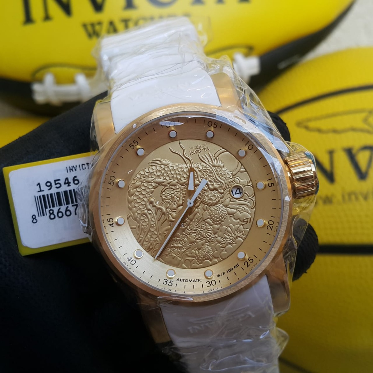 104266a98b8 Relógio Invicta Yakuza 19546 - Dourado Branco Masculino - R  899