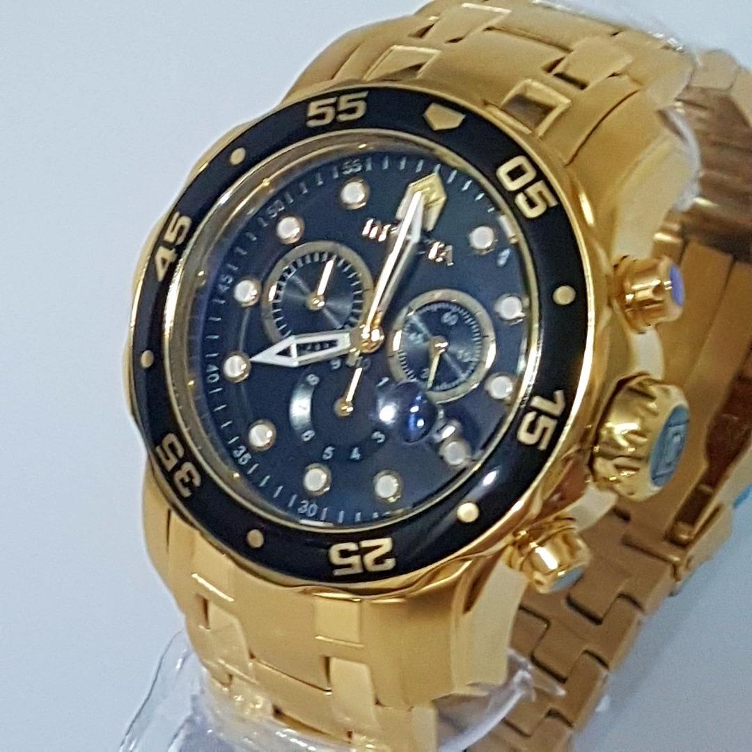 3172c12192c relogio invicta masculino pro diver 0072 banhado a ouro 18k. Carregando  zoom.