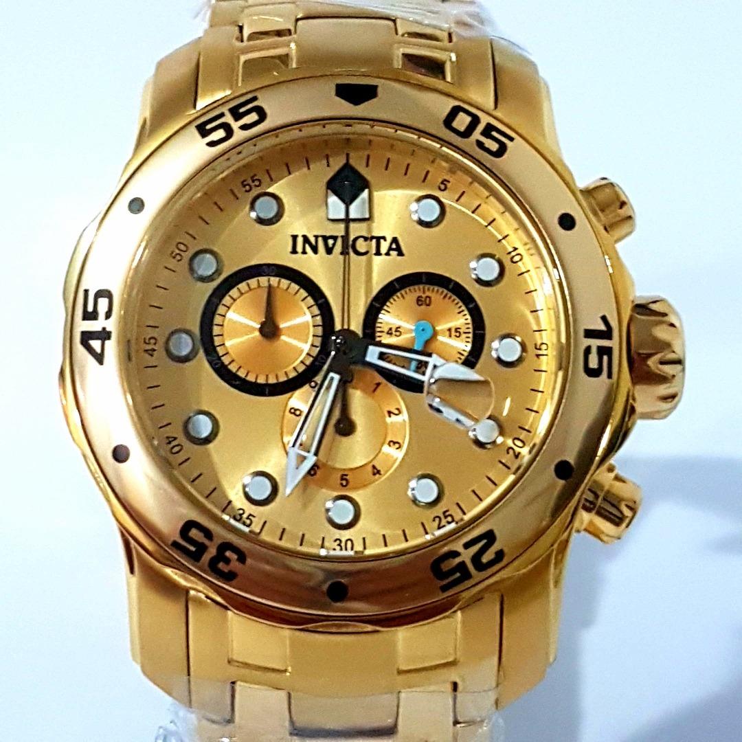 9e6a1783cb8 relogio invicta masculino pro diver 0074 banhado a ouro 18k. Carregando  zoom.