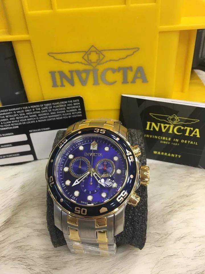 a95cc45c00f relógio invicta masculino pro diver 0077 com caixa ref00012. Carregando  zoom.
