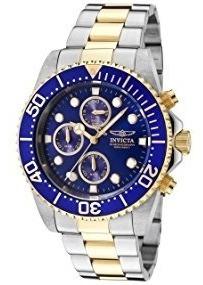 relógio invicta men's 1773 pro diver ouro 18k (original)