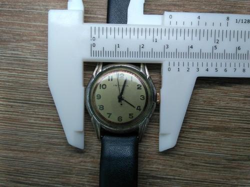 relógio invicta militar corda  anos 36 caixa aço fundido