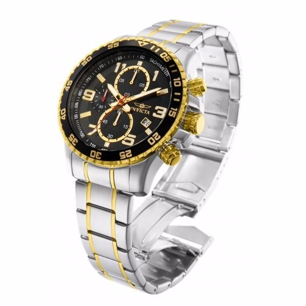 fc132df0e3b Relógio Invicta Modelo 14876 100% Original Cromado Em Ouro18 - R ...