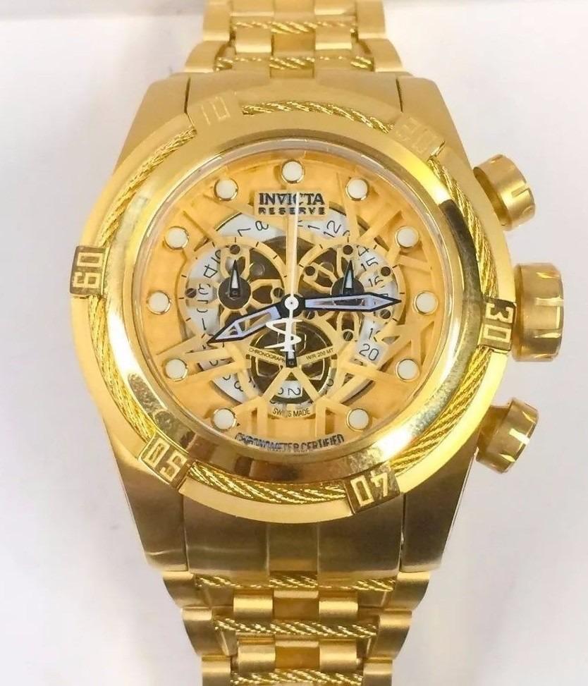 5e47c088be6 Relógio Invicta Original 12763 Bolt Zeus Dourado Kt001 - R  450