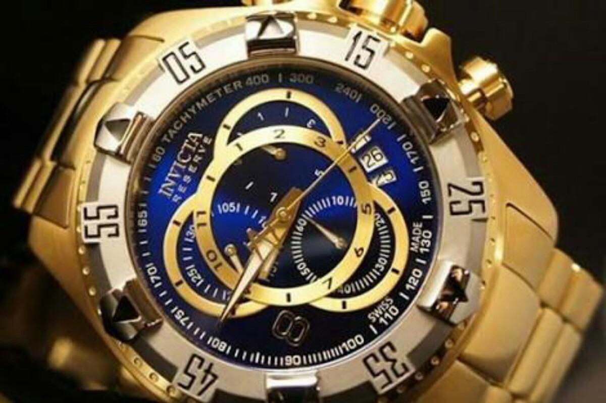 3b91806afee relógio invicta ouro 18k 6471 azul na caixa frete gratis. Carregando zoom.
