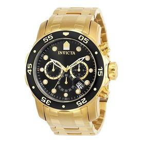 Relógio Invicta Pro Diver 0072 B. Ouro 18k