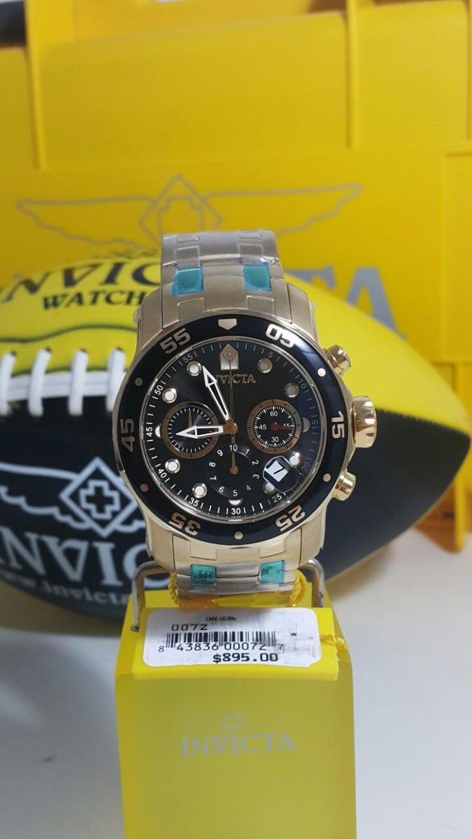 609dc402a8f relógio invicta pro diver 0072 - banhado a ouro 18 k crono. Carregando zoom.