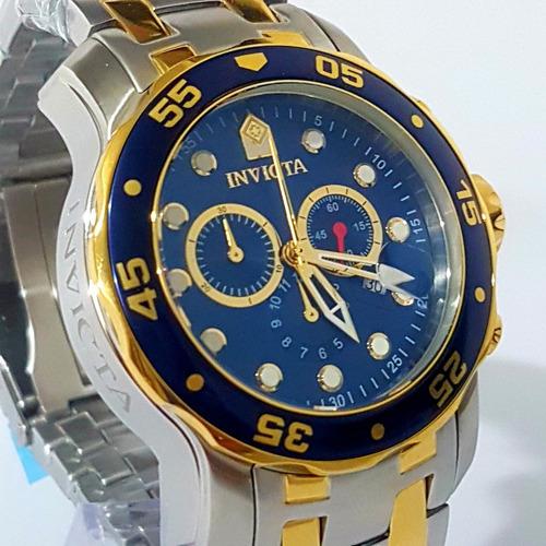 bd44fa69bac Relogio Invicta Pro Diver 0072 Banhado A Ouro 18k Originall - R  479 ...