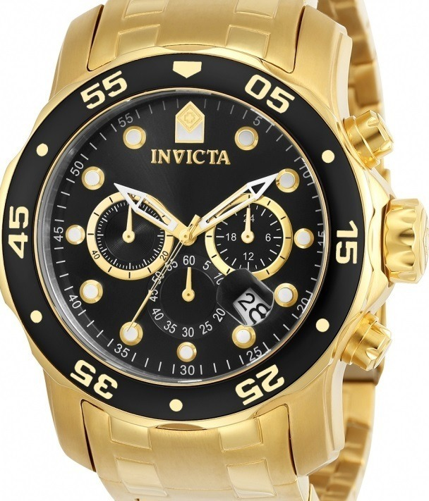 217b370f32e Relógio Invicta Pro Diver 0072 - Original Dourado E Preto - R  517 ...