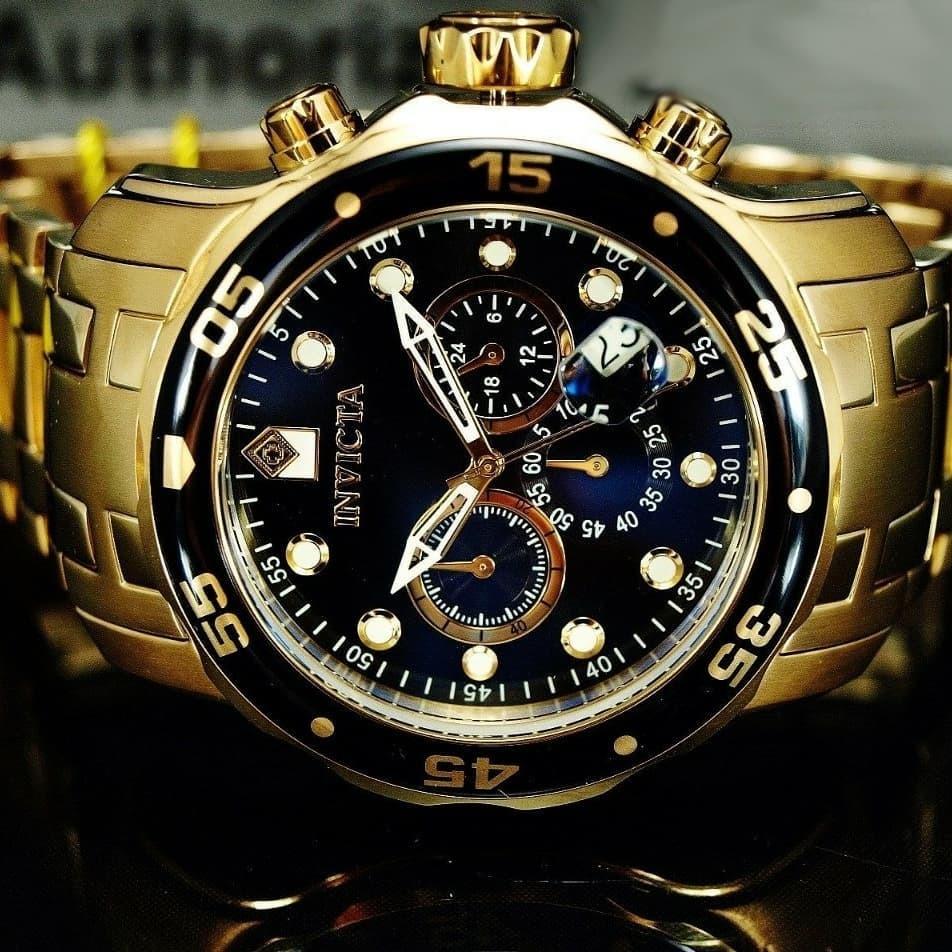 ff537508463 relógio invicta pro diver 0072 original masculino dourado. Carregando zoom.