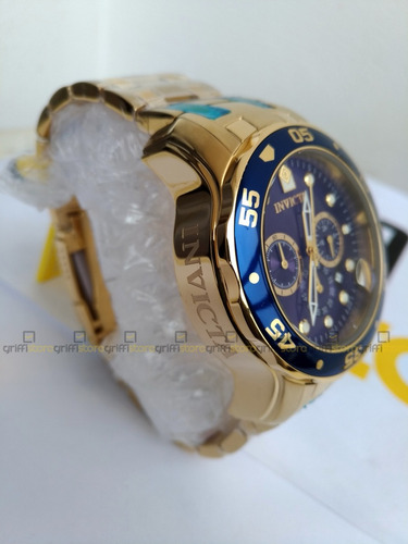 relógio invicta pro diver 0073 original dourado banhado ouro